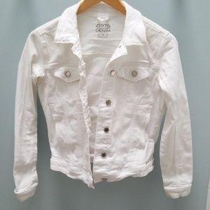 Zara white denim jacket